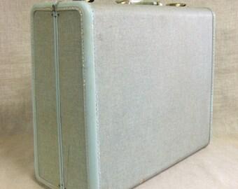 Vintage Suitcase, Samsonite, Hard Suit Case, Baby Blue, Travel Case, Storage, Luggage, Large, Travel, Mid-Century, Organization, Vacation