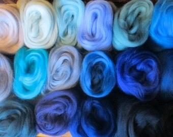 ALL THE BLUES 17 Shades Ashland Bay Merino 4.25 Oz!