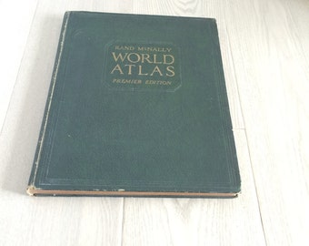 Rand McNally World Atlas Premier Edition Copyright 1929