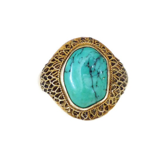 export ring silver ring gold plated by zephyrvintage