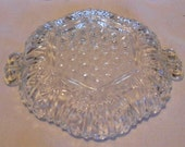 Vintage, Clear Glass Relish, Candy Dish, Plate