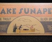 Lake Sunapee New Hampshire fishing cabin and lodge lake house lure box decorations