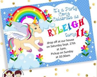 unicorn birthday invites, birthday invitations for girls
