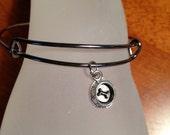 Dog Lover Jewelry Antiqued Silver Dog Bowl Bracelet