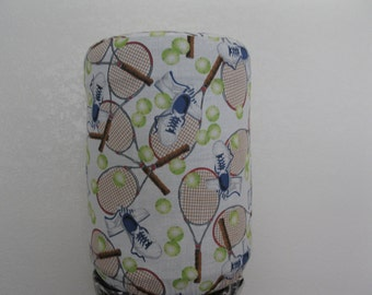 5 Gallon  Cooler decor-Tennis Blue Brown white