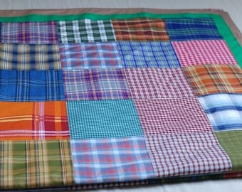 SALE Colorful Handcrafted Quilted Handmade Patchwork Quilt Bedroom Blanket 220cm x 220cm