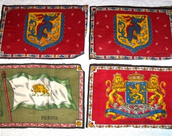 4 Extra Large Cigar Cigarette Felts Flannels Persia, Netherlands, China