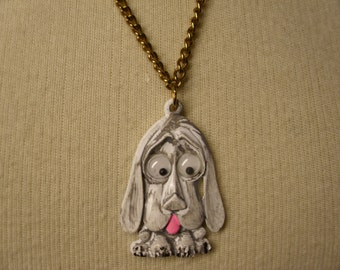 Vintage 1960's/1970's  Enamel Dog Necklace