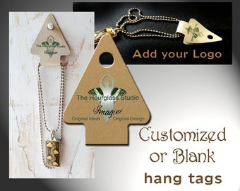 Custom hang tags Jewelry holder Fold over card Necklace