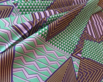 Dutch Java Print African Fabric VL5243R Green and Purple