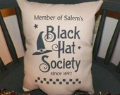 UNSTUFFED Primitive Pillow COVER Halloween Witch Country Home Decor Fall Decoration Black Hat Society Seasonal Pillowcase Tan wvluckygirl