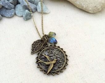 Just a Mocking Bird, Best friend gift, Gift Ideas, Handmade Necklace,Jewelry, Bird Necklace