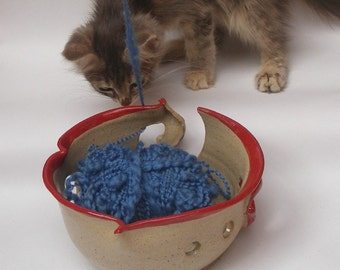 Stoneware Yarn Bowl, Lip Yarn Bowl No. 4