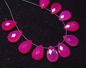 NEW / Arrival - 5 Matched Pair -  Gorgeous Hot Pink  CHALCEDONY - 10x15 mm Long Gorgeous Blue Colour Faceted Sparkle