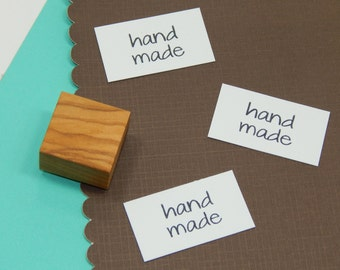 Dinky Hand Made Olive Wood Stamp