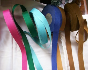"3 yds. of petersham cotton/rayon vintage millinery ribbon 7/8"" to 1"""