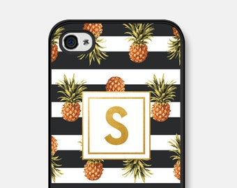 iPhone 5s Case Monogram iPhone 6 Case iPhone 6s Case iPhone 5 Case iPhone 6 Plus iPhone 5c Case Girlfriend Personalized Womens Pineapple