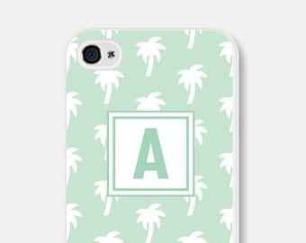Monogram Phone Case iPhone 5c Case iPhone 6s Case Palm Tree Phone Cover Samsung Galaxy S4 Case Personalized iPhone 5 Case iPhone 6 Plus Case