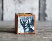 Natural History Candleblock: No. 5, Cobblestone Fennec Fox - by Peg and Awl