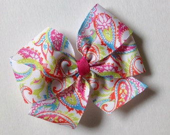 Lilly Inspired Pretty Paisley Bow by Cheryl's Bowtique