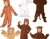Children's Costume Pattern - Butterick 3238- Child's Animal Onesie Costume in Six Variations - Sz 2/3/4/5
