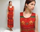 sale... Elephant Dress  //  India Gauze Dress  //   JUNGLE FEVER