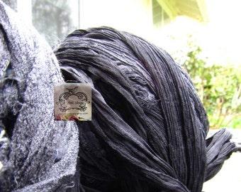 Black Silk Chiffon Ribbon