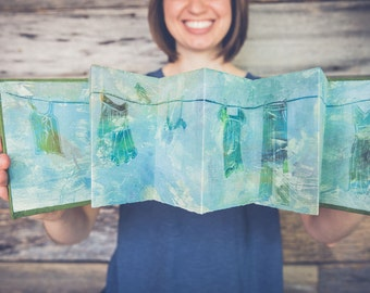 Cortona Clothesline handbound artist book
