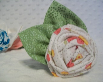 Rolled Flower Hair Clip