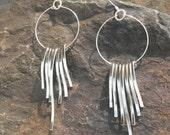 Silver Waterfall Sterling Silver Earrings, Waterfall Silver Earrings, Waterfall Sterling Silver Earrings