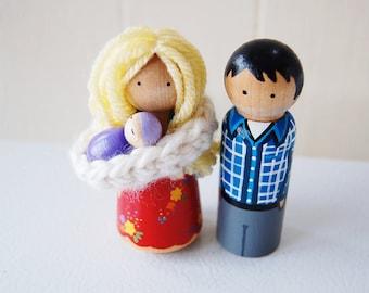 Extra children or family Pet for Custom Family Wooden Dolls set -