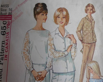 Simplicity 5509 misses blouse, top, and pants. Lace insets. size 16
