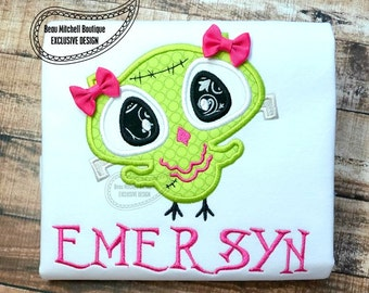 frankenowl applique