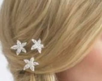 Starfish Hair Pins Bobby Pin Rhinestone Beach Wedding