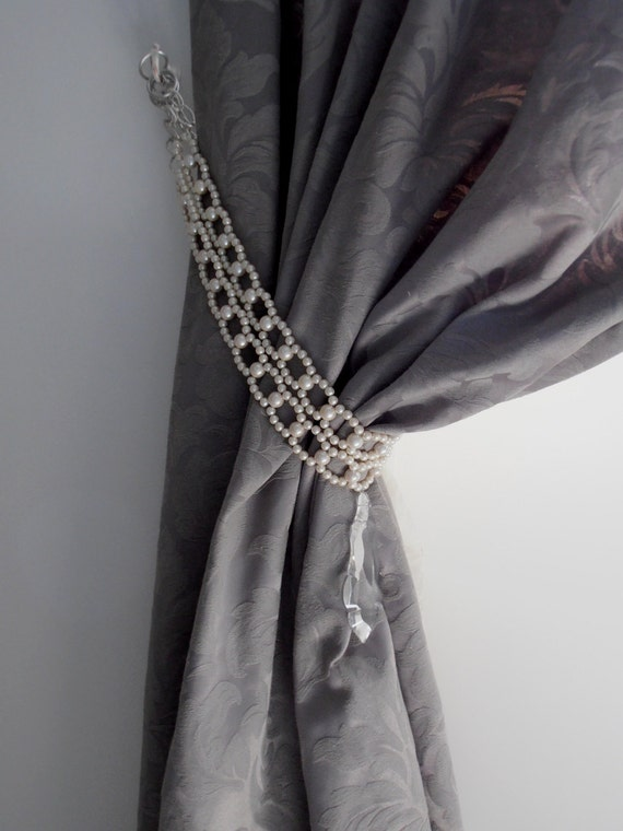 Long decorative double tie backs by milanchicchandeliers for Designer curtain tie backs
