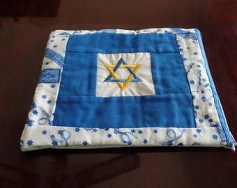 Embroidered Star of David Padded 10 Inch Tablet Cover