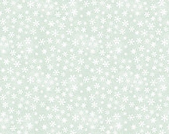 The Cardinal Rule from Wilmington Prints - Full or Half Yard Snowflakes on Winter Blue Green
