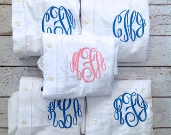 5 Monogrammed Bridesmaid Shirt For Bridal Party