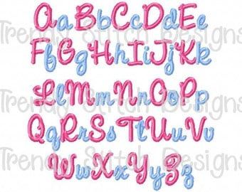 Avery Font machine embroidery design INSTANT DOWNLOAD Cursive BX