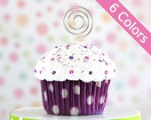 Polka Dot Mini Cupcake Photo Note Holders
