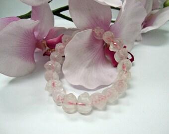 Rose Quartz Lucky Pig Good Luck Charm Bracelet (富贵手镯)