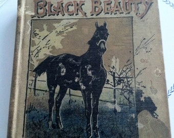 Vintage Black Beauty The Autobiography Of A Horse 1st Edition, Horse Collectible Book, Antique Books