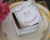 Ring Bearer Box Rustic Wedding Ring Box Rustic Chic Wedding Box Monogrammed Wedding Box Wedding Ring Box Keepsake Box Rustic Wedding Decor