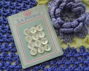 Vintage Button Card - Pearls - #6