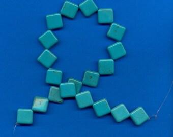 15 Inch Strand of Magnesite Diamond Shaped Beads, 20mm