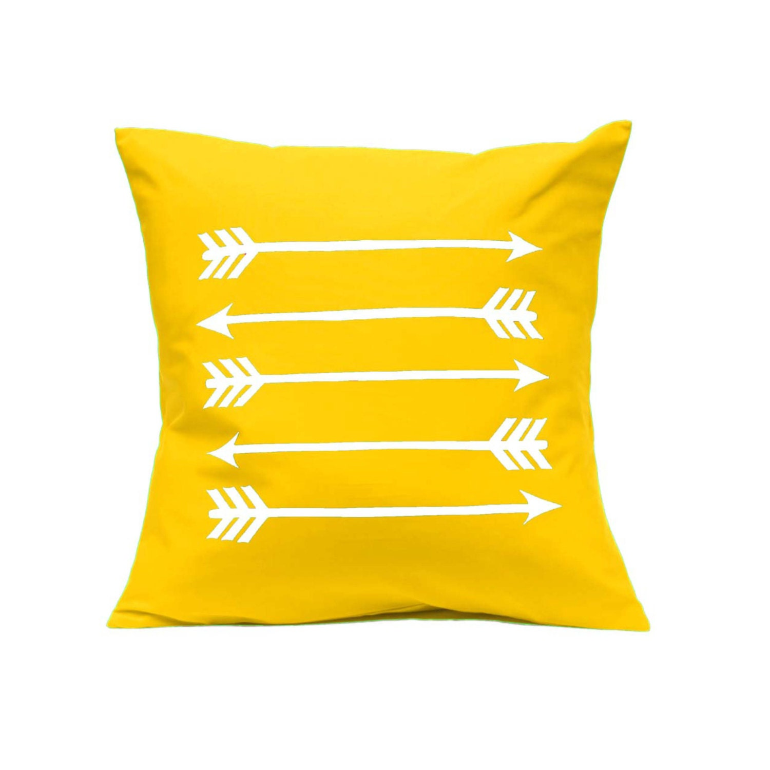 Throw Pillow Arrows in Bright Yellow by linneaswedishdesign
