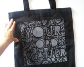 Your Words Matter canvas tote bag by Rainbow Alternative on Etsy