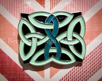 Sale - Lot of 10 Celtic Knot Teal Ribbon Ovarian Cancer Lapel Pins