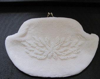 Gorgeous White Beaded Vintage Handbag