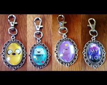 Adventure Time Keyring - Adventure Time Jake the Dog Keychain Lumpy Space Princess Key Ring - BMO Keyring - LSP Adventure Time Keychain